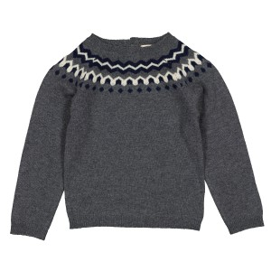 Louis Louise Henri Pull Sweater in Grey