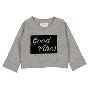 Louis Louise James Good Vibes Sweatshirt in Marled Grey
