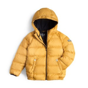 Toastie Cloud Puffer Coat in Ochre Yellow