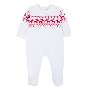 Tartine et Chocolate Holiday Raindeer Footed Onesie