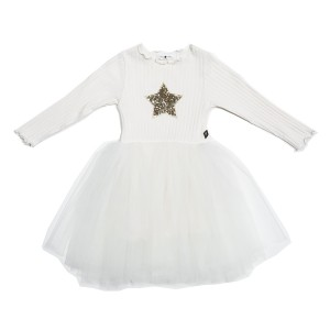 Petite Hailey PH Star Tutu Dress in Ivory