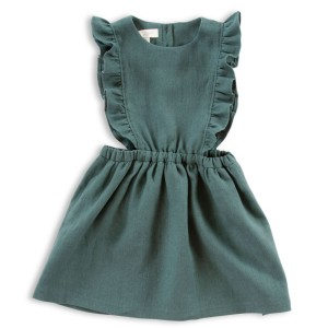 Olivier Betsy Dress in Juniper Linen