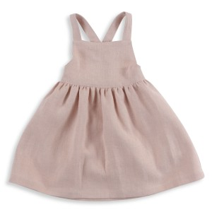 Olivier Ivy Dress in Dusty Pink Linen