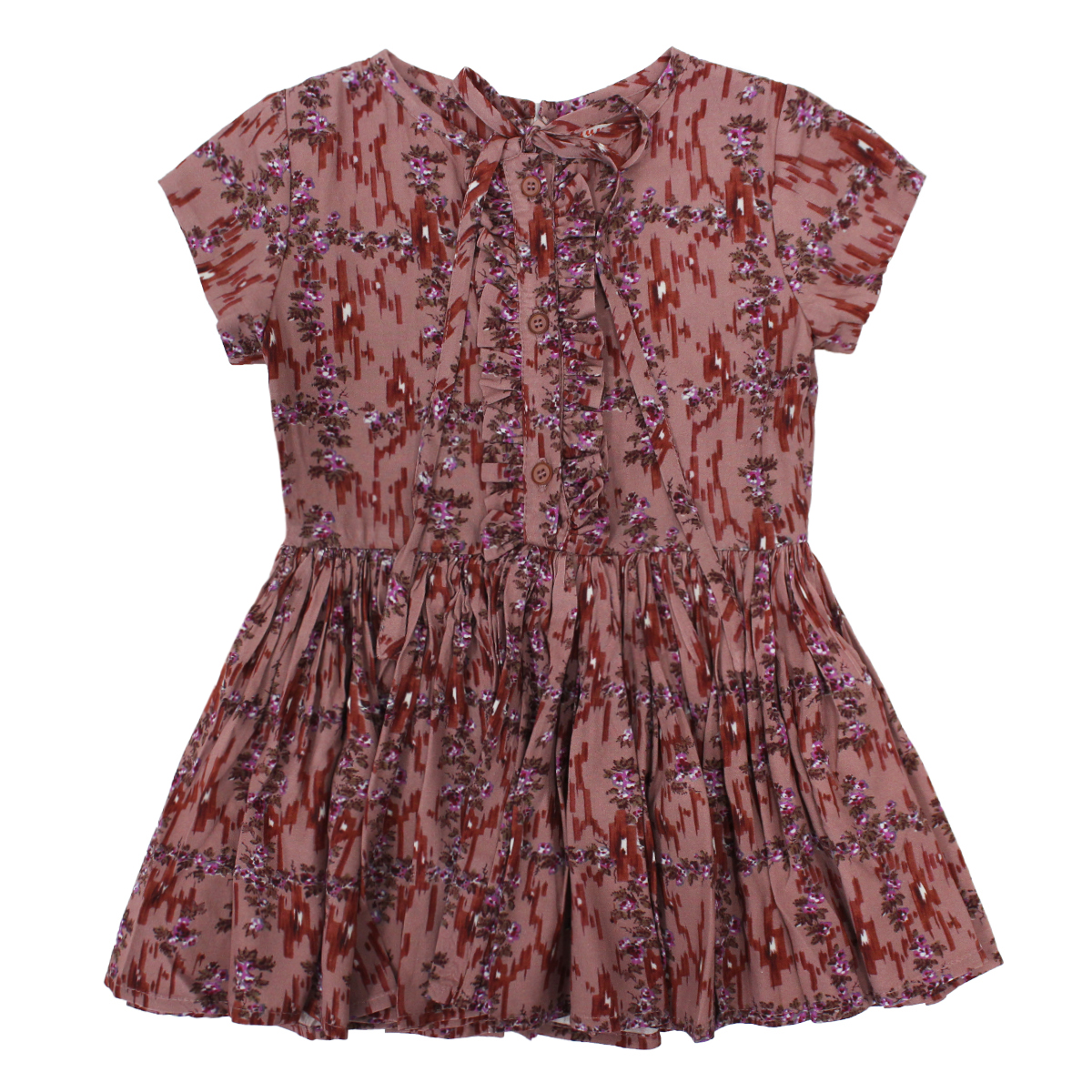 Morley Ernestine Dress in Ikat Brick Print