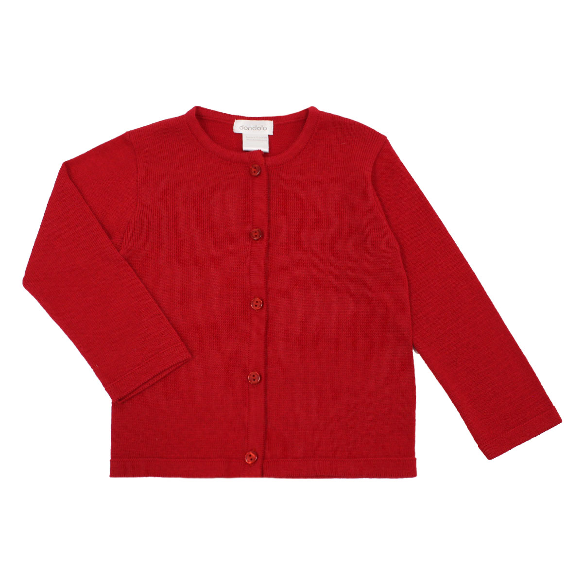 Dondolo Classic Cardigan in Red