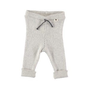 My Little Cozmo Rib Legging in Light Grey