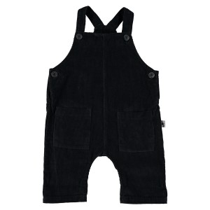 My Little Cozmo Pana Bib Overall in Dark Grey