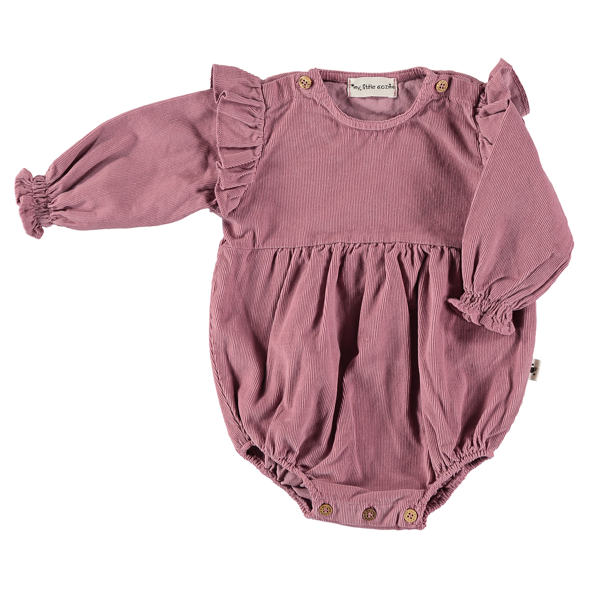 My Little Cozmo Micropana Romper in Vintage Pink