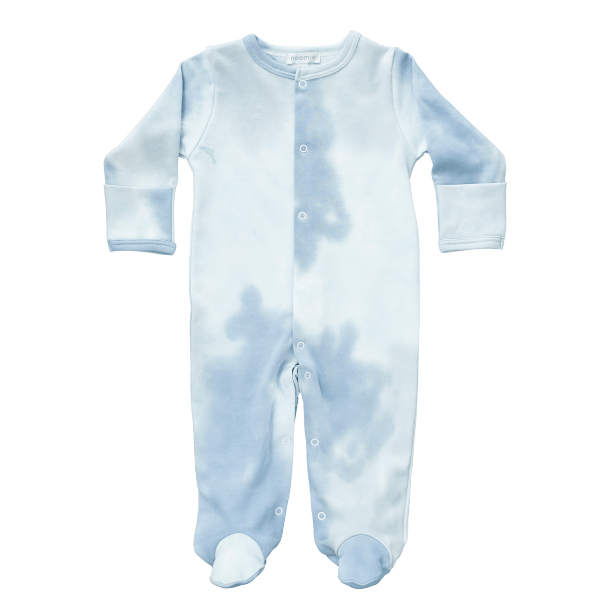 Baby Noomie Snap Footie in Blue Tie Dye
