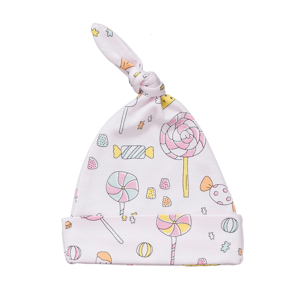 Baby Noomie Knotted Hat in Lollipop