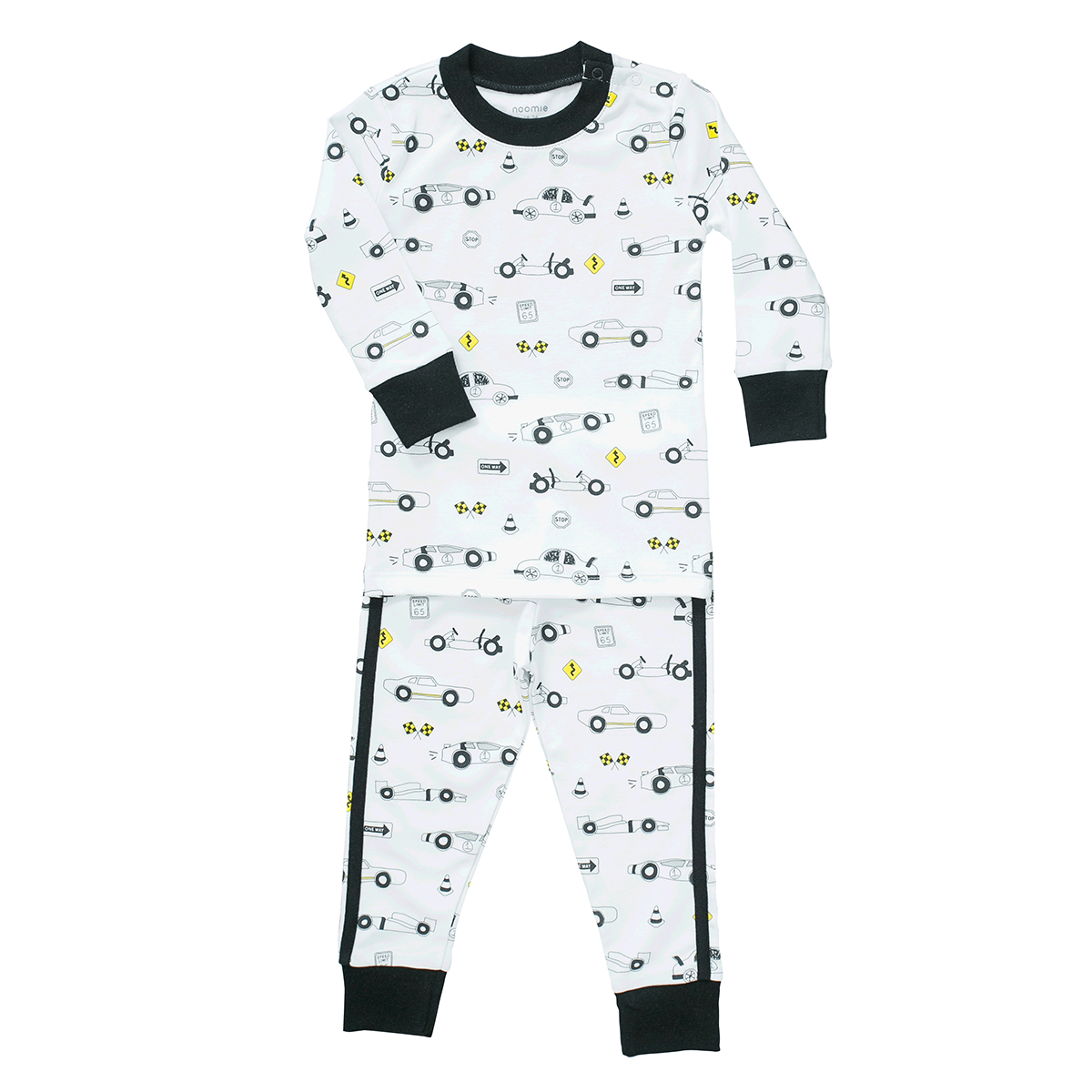 Baby Noomie Two Piece PJ Set in Cars