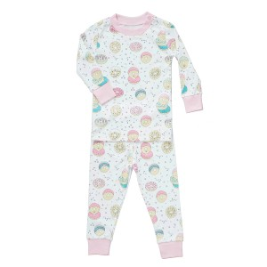Baby Noomie Two Piece PJ Set in Donuts