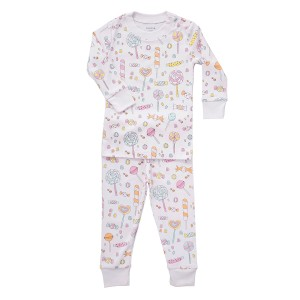 Baby Noomie Two Piece PJ Set in Lollipops