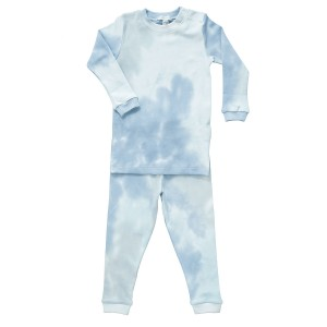 Baby Noomie Two Piece PJ Set in Blue Tie Dye