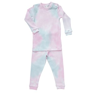 Baby Noomie Two Piece PJ Set in Pink Tie Dye