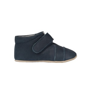 Petit Nord Indoor Velcro Shoe in Navy