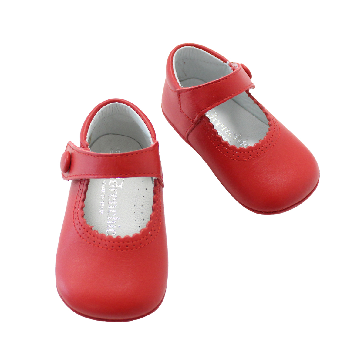 ChildrenChic Baby Mary Jane Shoe in Red