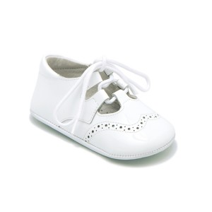 ChildrenChic Baby Leather Oxford in White