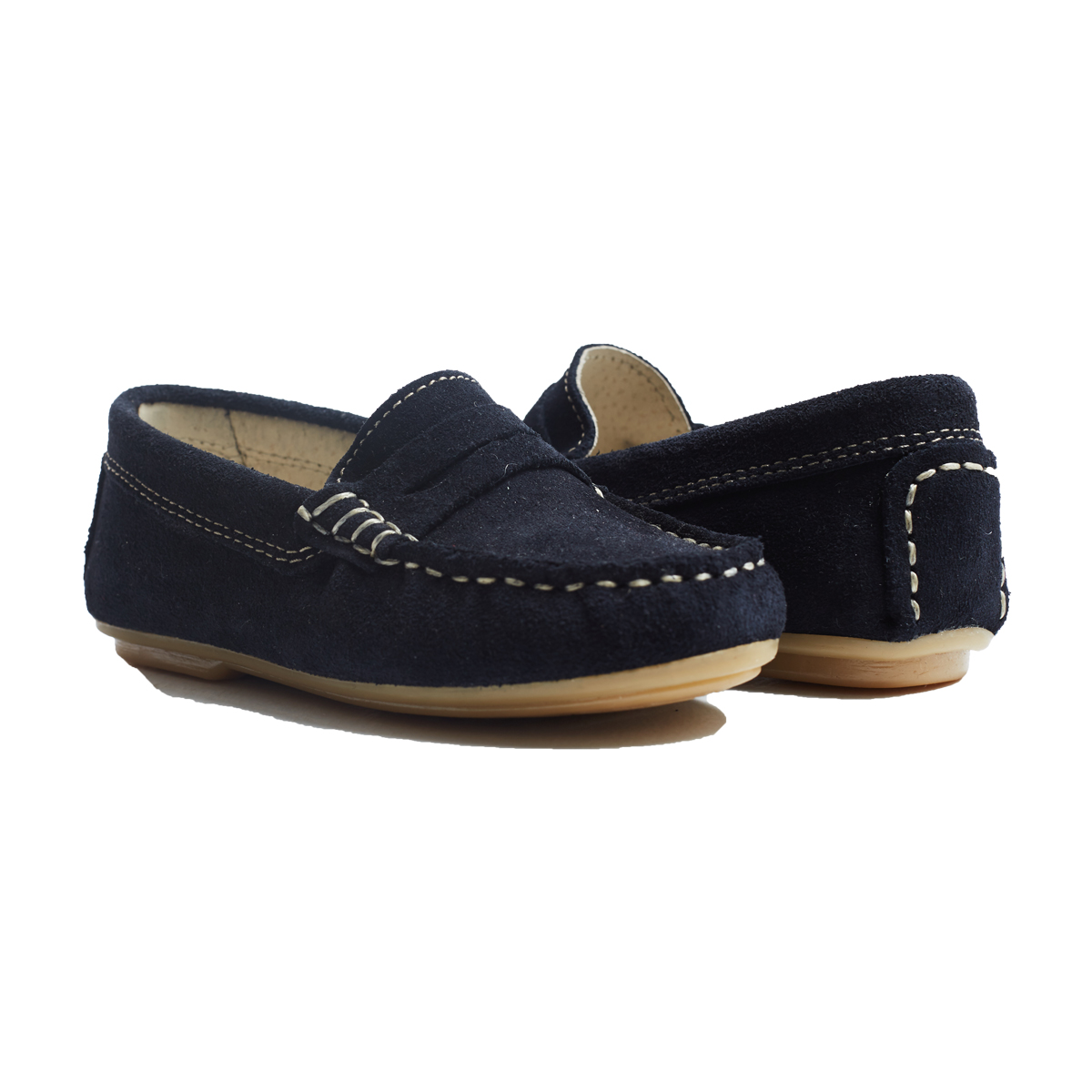 ChildrenChic Classic Suede Moccasin in Navy