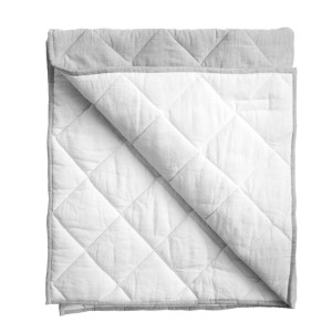 Louelle Playmat Quilt in Husk Grey