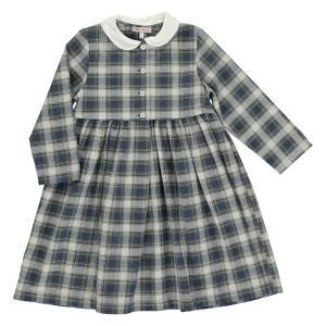 Amaia Teresa Navy Check Dress