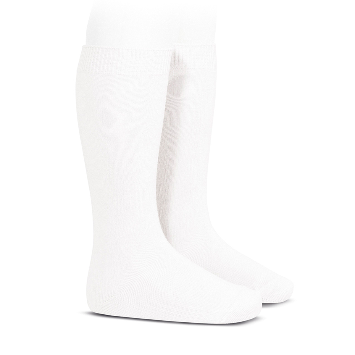 Condor Basic Plain Knee High Socks in White
