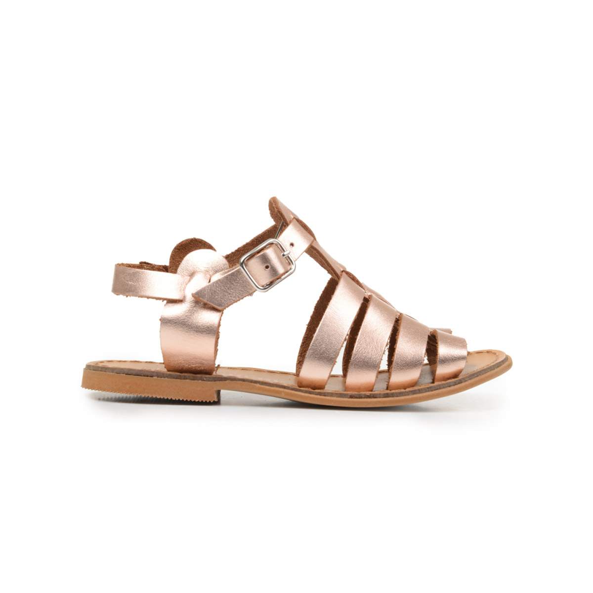 ChildrenChic Strappy Sandal in Rose Gold