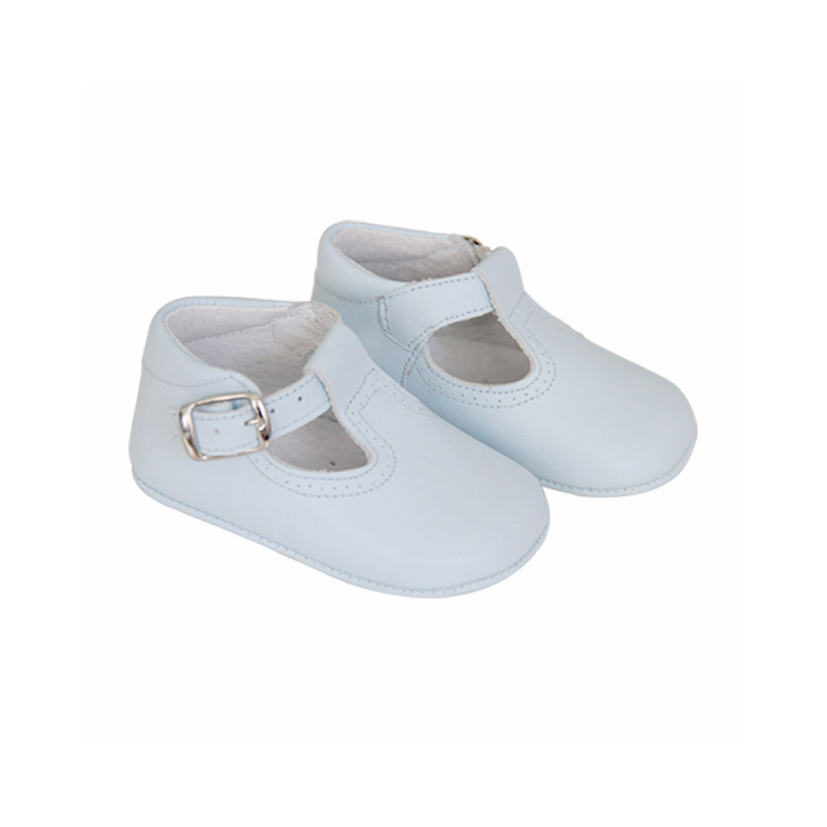 ChildrenChic Leather T-Band Shoe in White