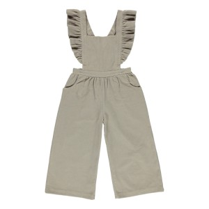 Bebe Organic Harper Romper in Simple Taupe