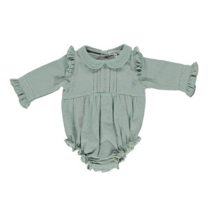 Bebe Organic Love Romper in Slate Grey