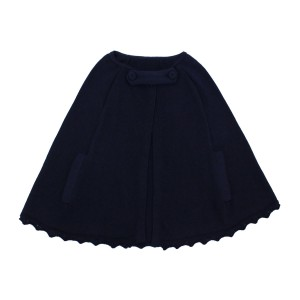 Lullaby Set Sweater Cape in Navy
