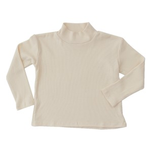 Library Littles Monday Mockneck Shirt in Ivory