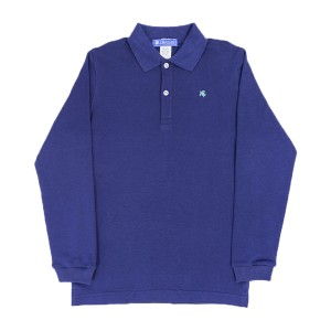 Bailey Boys Long Sleeve Polo in Navy