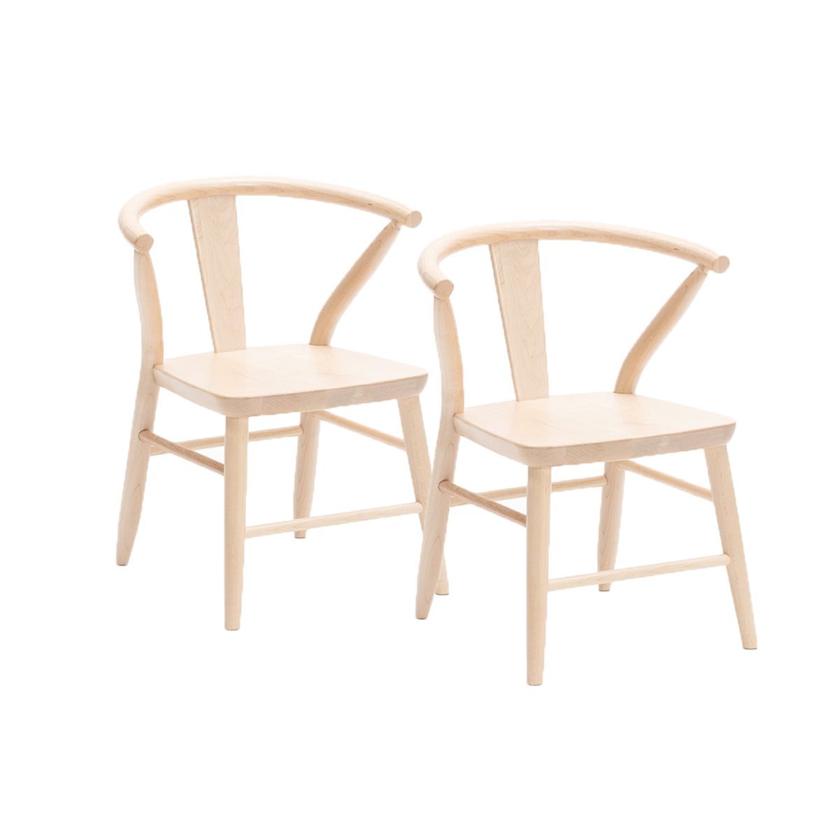 Milton and Goose Chairs in Natural