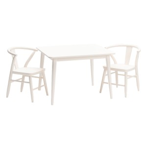 Milton and Goose Crescent Play Table in White with White Crescent Chairs