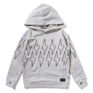 Munster Kids Charger Hoodie in Grey Marble