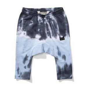 Munster Kids Up Up Pant in Blue & Black Tie Dye