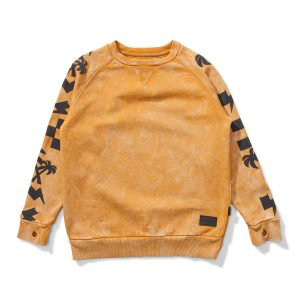 Munster Kids One Stripe Sweater in Mustard & Black