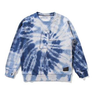 Munster Kids Spinner Sweater in Navy Tie Dye