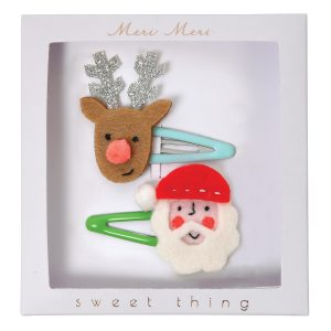 Meri Meri Santa and Reindeer Hair Clips