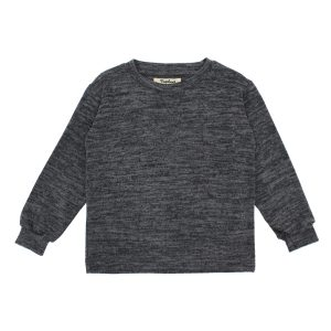 Nupkeet Otone Melange Sweater in Grigio Grey