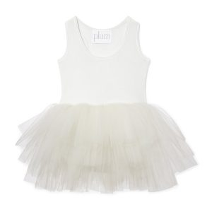 ILovePlum Sleeveless Tutu Dress in Pearl Ivory