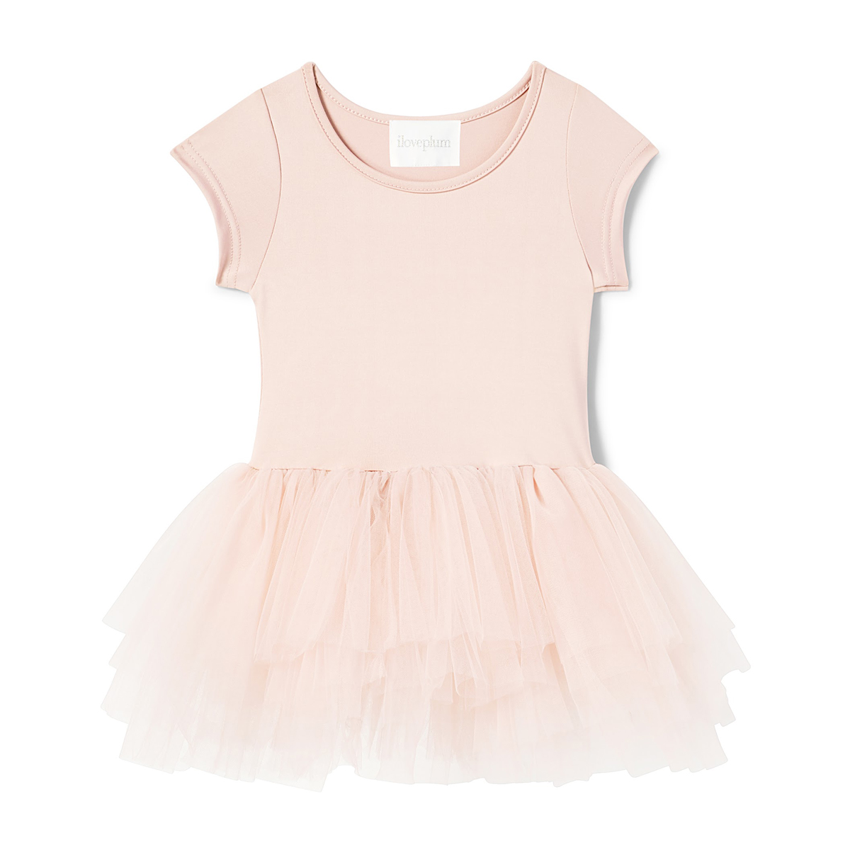 ILovePlum Short Sleeve Tutu Dress in Shirley Light Pink