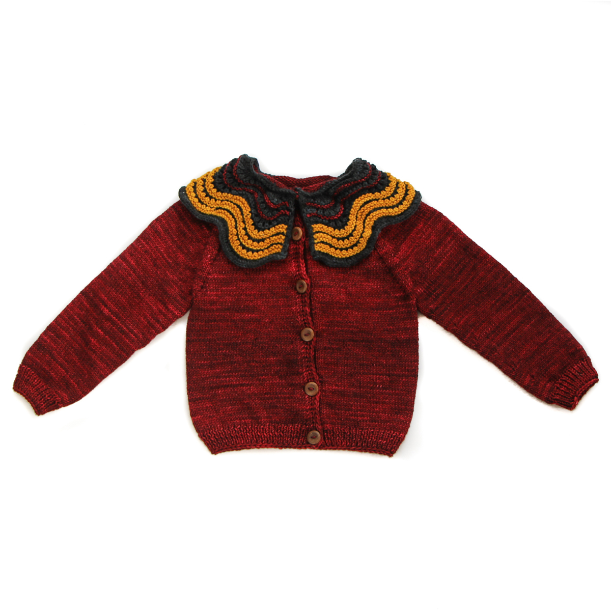 Kalinka Butterfly Cardigan in Cherry