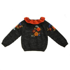 Kalinka Stephanie Sweater in Coal
