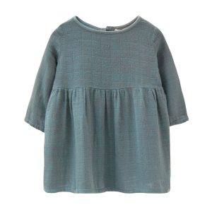 Go Gently Nation Gauze Prairie Dress in Rain