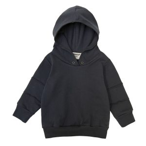 Go Gently Nation Panel Hoodie in Charcoal