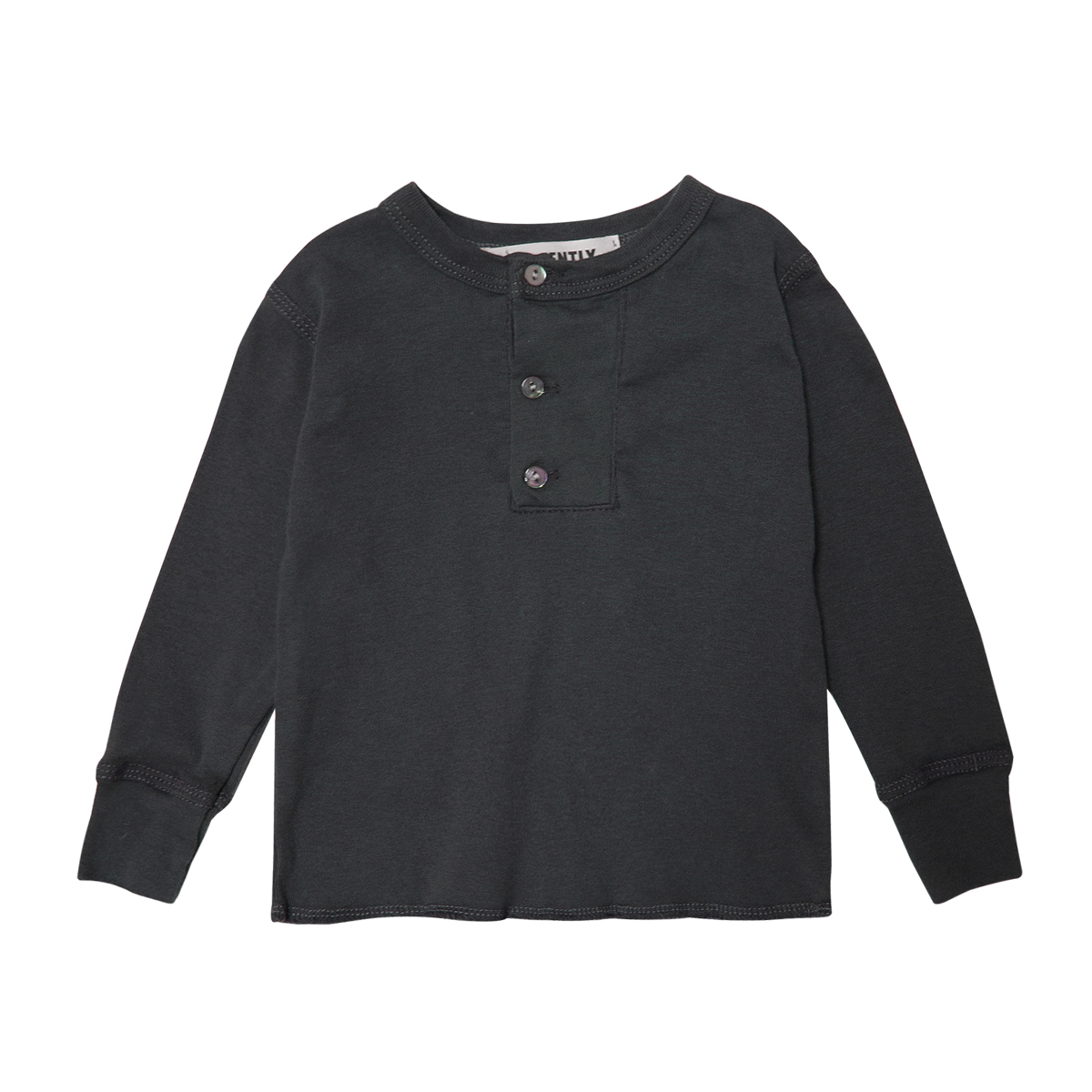 Go Gently Nation Henley Shirt in Charcoal