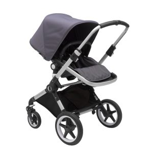 Bugaboo Lynx Stroller In Aluminum Frame with Steel Blue Fabric