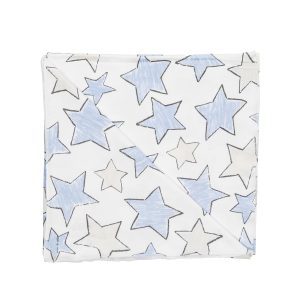 Hart + Land large star organic cotton blanket